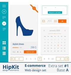 E-commerce web design elements extra set 1 vector image vector image