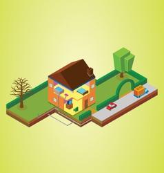 Isometric house vector