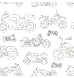 Motorcycle Icons set pattern vector image vector image