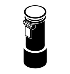 postal pillar icon simple style vector image