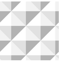 pyramid pattern seamless design in gray - white vector image vector image
