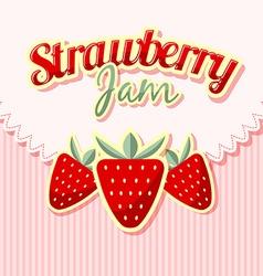 Retro strawberries vector image vector image