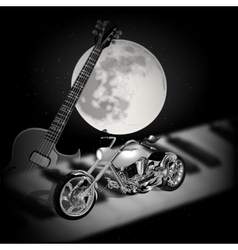 Rock music background with moon vector