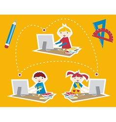 School social network communication vector