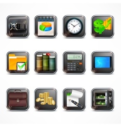 Set of business icons in vector image vector image