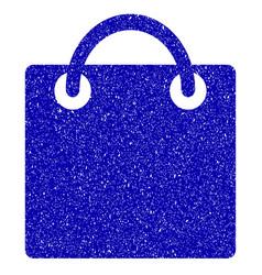Shopping bag icon grunge watermark vector