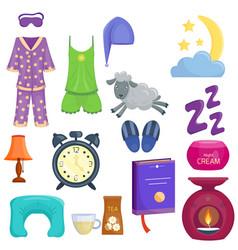 sleep icons set collection nap vector image