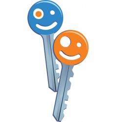 smiling keys vector image vector image