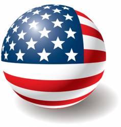 usa flag texture on ball vector image