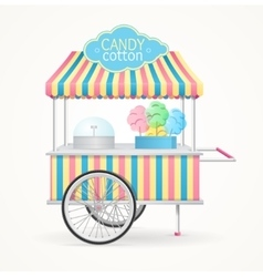 Cotton candy street market stall vector