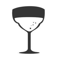 Cup glass drink isolated design vector