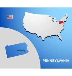 Pennsylvania vector
