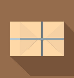parcel wrapped in paper and tied with twine icon vector image