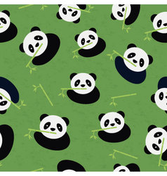Seamless panda bear pattern vector
