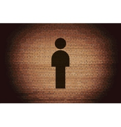 Man restroom flat modern web button and space for vector