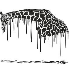 Giraffe painting vector