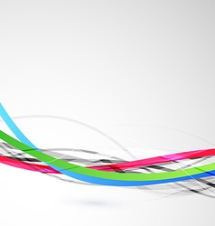 Bright colorful cable bandwidth speed line vector