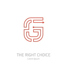 Logo design template letter g concept idea of the vector