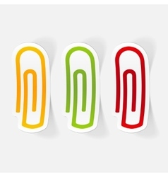 Realistic design element paper clip vector