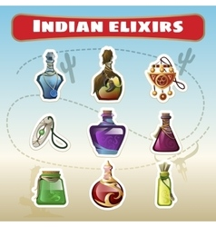 The indian set of elixirs vector