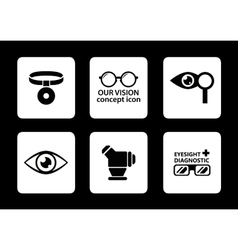Optician icons set vector