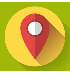 Map pointer flat icon  flat vector