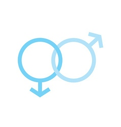 Two males gender signs sexual symbols valentines vector