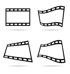 Film tape set vector