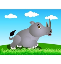 rhino in the wild vector image