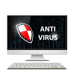 Anti-virus software stock vector