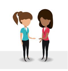 Avatar businesswomen icon vector