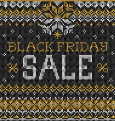 Black Friday Sale Scandinavian or russian style vector image