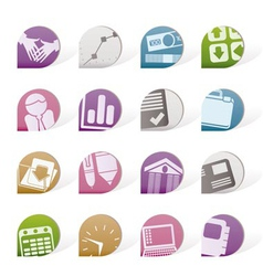 business and office objects vector image vector image