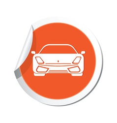 Car orange label vector