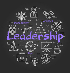 chalk board concept - leadership sign vector image