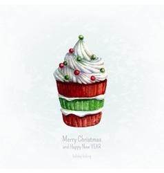 christmas baking vector image