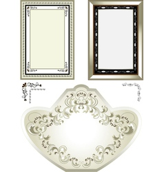 Classic vintage frame vector image vector image