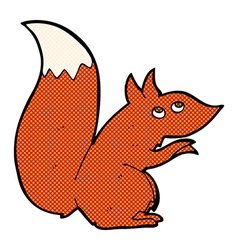 Comic cartoon red squirrel vector