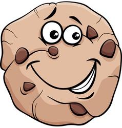 cookie cartoon vector image vector image