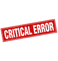 Critical error square stamp vector