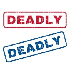 Deadly Rubber Stamps vector image vector image