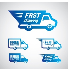 Delivery and shipping1 vector image vector image
