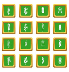 ear corn icons set green vector image