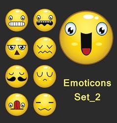 Emoticons set 2 vector