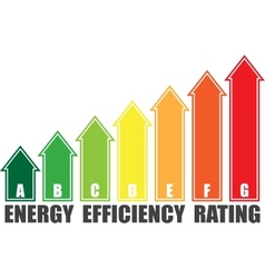 Energy efficiency arrows vector