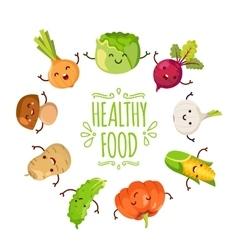 Healty food cartoon representing vector