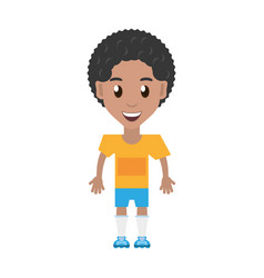 Isolated man player soccer cartoon vector