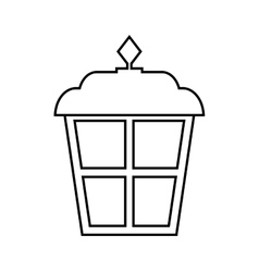 Lantern classic park isolated icon vector