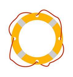 lifebuoy icon tourism equipment vector image vector image