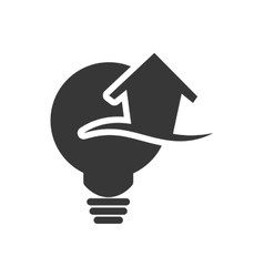 Light bulb ecology silhouette design vector